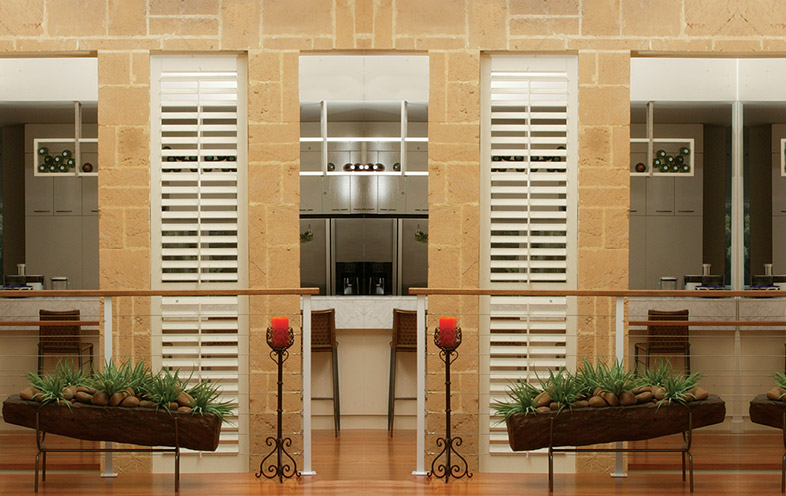 Fixed wood shutters Mornington
